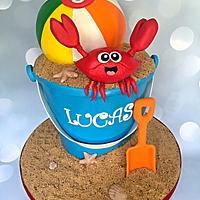 Fun in the sand cake