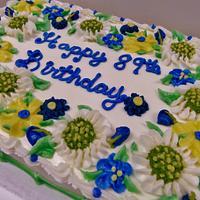 Daisy Mum buttercream floral cake