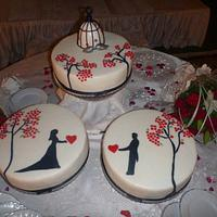 Wedding Cake Love birds