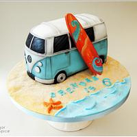 VW Campervan Cake ... Baking A Smile for Brendan x