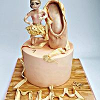 Vintage Ballerina Ballet Shoe Cake TLCB
