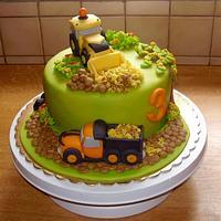 Children's cake for a baby boy
