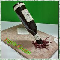 Vintage Wine bottle Cake!