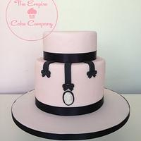 Cameo pink wedding cake