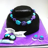 Jewelry and Makeup Cake