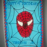 Spiderman Sheet Cake