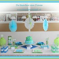 Sweet table blue/green by Diane Gunst