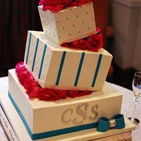 Wonky Wedge Wedding Cake by Jenniffer White