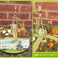 Mr McGregors Garden cake