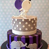 Baby Shower Buttercream with fondant Decorations