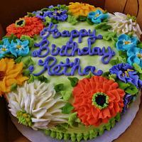 Floral buttercream birthday