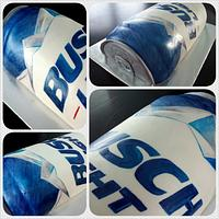 Busch Light Beer Can Cake
