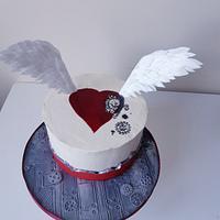 Steampunk Valentines cake