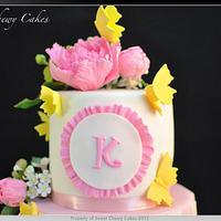 Spring birthday cake by SweetChewyCakes