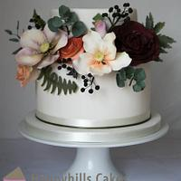 Natural & pretty wedding cake