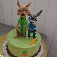 Zootropia cake