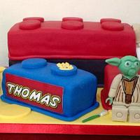 5th Birthday Star Wars Lego Cake