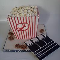 popcorn movie cake