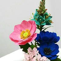 Anémonas, cherry bloom and puya turquoise