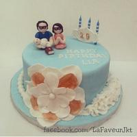 Little-family-prays-together cake