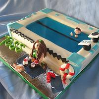 CSU Rams Swimmer Cake