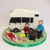 Family campervan & barbeque