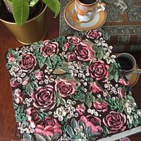 Palette Knife Painting-Rose Garden