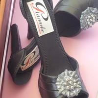 Wine Bottle cake and shoes by Cakery Creation Liz Huber