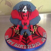 Spiderman giant cupcake