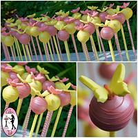 Baby shower cake pops with butterflies