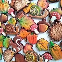 Autumn forest friends