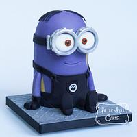 Disguised Minion Cake (from Despicable Me 2)