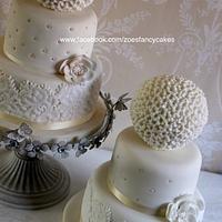 Fancy spherical wedding cake design + tutorial!