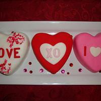 Mini Heart Cakes