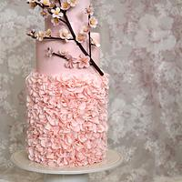 Tarta Vintage con Rama de Cerezo - Vintage Cake with Cherry Branch