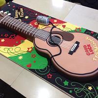 Sculpted Acoustic Guitar Cake