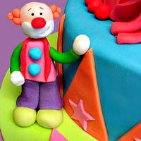 Circus Joint Birthday Cake by Jennifer