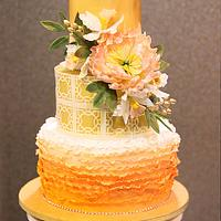 Peach Ombre and Gold