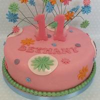 girly cake  by zoe