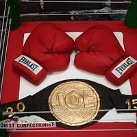 Joe's Boxing Retirement Cake