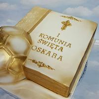 Football holy communion cake