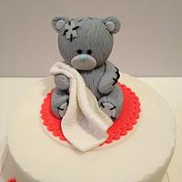 Tatty Teddy first birthday cake by Starry Delights