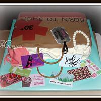 Shop-A-Holic Birthday Cake by Slice of Sweet Art
