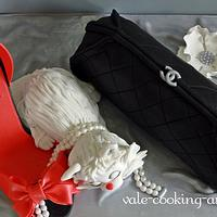 Chanel Clutch, High Heel and a cat by Valentina's Sugarland