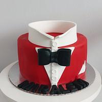 Man bow tie cake