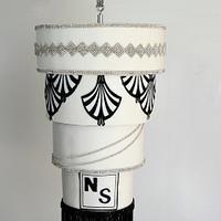 Art Deco Hanging Chandelier Cake