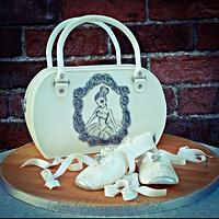 Gold (award winning) Ballet Slippers and Handbag
