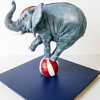 Balancing Elephant Cake!