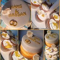 Engagement cupcakes and cake