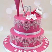 Stiletto shoe 21st birthday cake